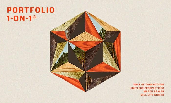heavily designed hexagon for portfolio 101 poster