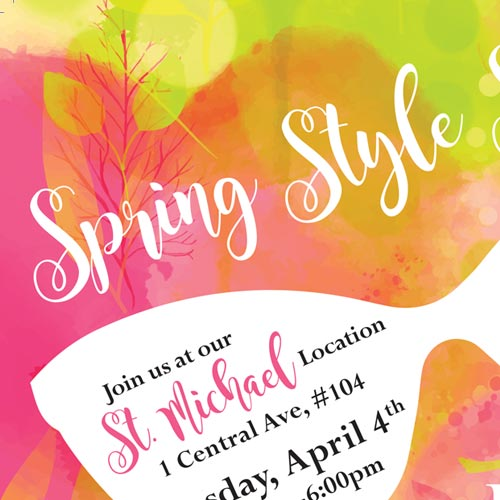 spring style postcard
