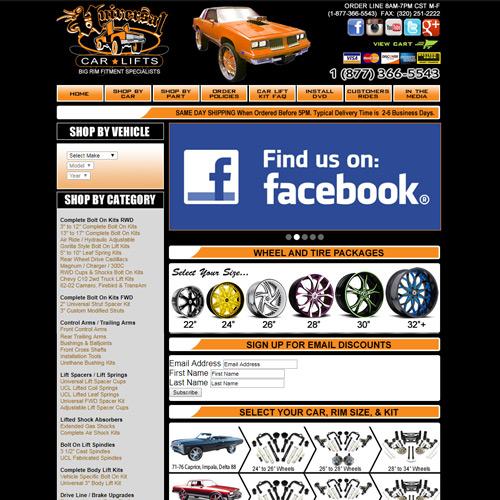 old UCL car parts site