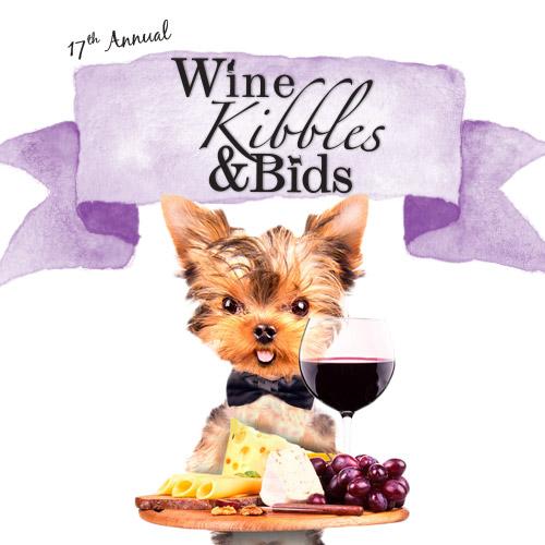 wine kibbles bids 2018 poster