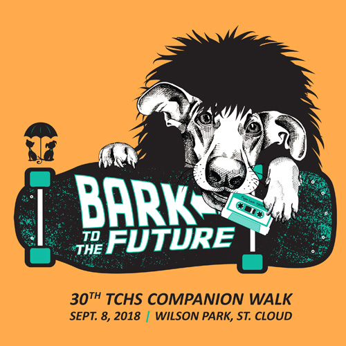 Bark to the Future tee design